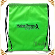190t polyester tote bag shopping double drawstring bag