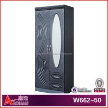 W662-50 modern bedroom sets 2 door wardrobe with mirror