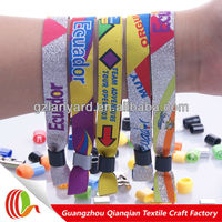 Novelty promotional party products polyester fabric wristbands uk