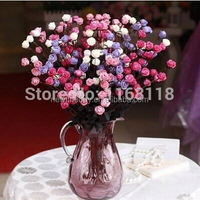 (20 pcs/lot)[55cm length] 6 color Fresh rose artificial real touch rose for wedding home decorating rose table centerpiece