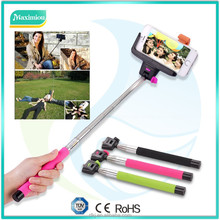 new cheapest selfie stick monopod with bluetooth shutter button ,Wireless mobile phone monopod Z07-5