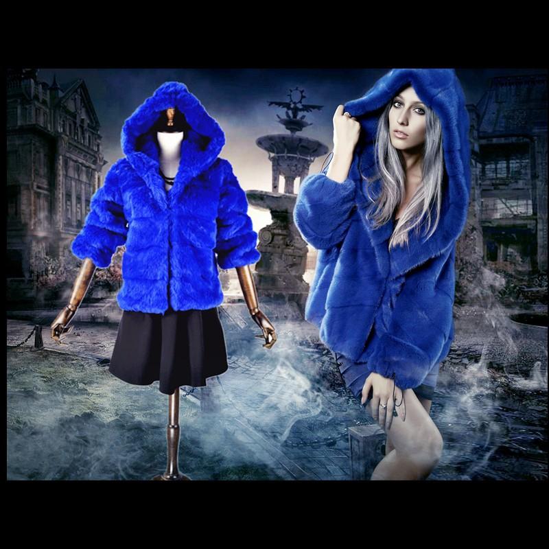 Женская одежда из меха kapuzen/faux pelz frauen k rschner kurz kunstpelz & smff011