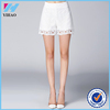 Dongguan Yihao 2015 Summer New Design Fashion Ladies White Lace Short Pants Hot Sales Casual Trousers For Women