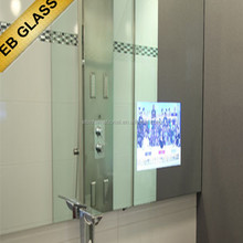 wall mounted magic mirror tv, hot sale Advertising TV Magic Mirror,EB GLASS BRAND