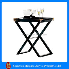 New design wholesale clear acrylic tray tables/acrylic tray tables