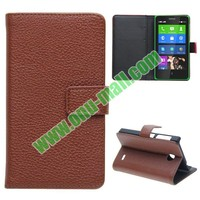 New Arrival Litchi Texture Wallet Leather Case for Sony Xperia Z2 with Card Slots and Stand, for Sony Xperia Z2 cover