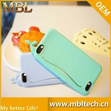 2015 New product 3D whales silicon case for Iphone 6