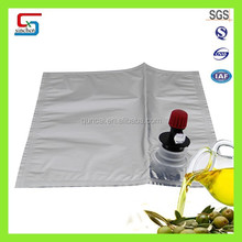 Shipment of liquid leakproof edible oil bag in box with oil type