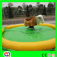Animal ride amusement mechanical electric bull ride for sale