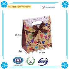 Beautiful&Cute Pattern Kraft Paper Candy Packaging Handbag