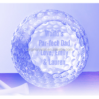 Personalized Logo Engraved K9 Crystal Golf Ball For Crystal Paperweight
