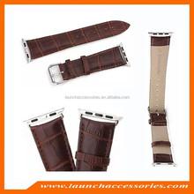 Custom 100% Genuine Crocodile Alligator Leather for Apple Watch Band