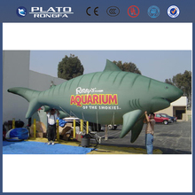 Pvc de gran desfile de promoción inflable peces voladores, tiburón inflable gigante