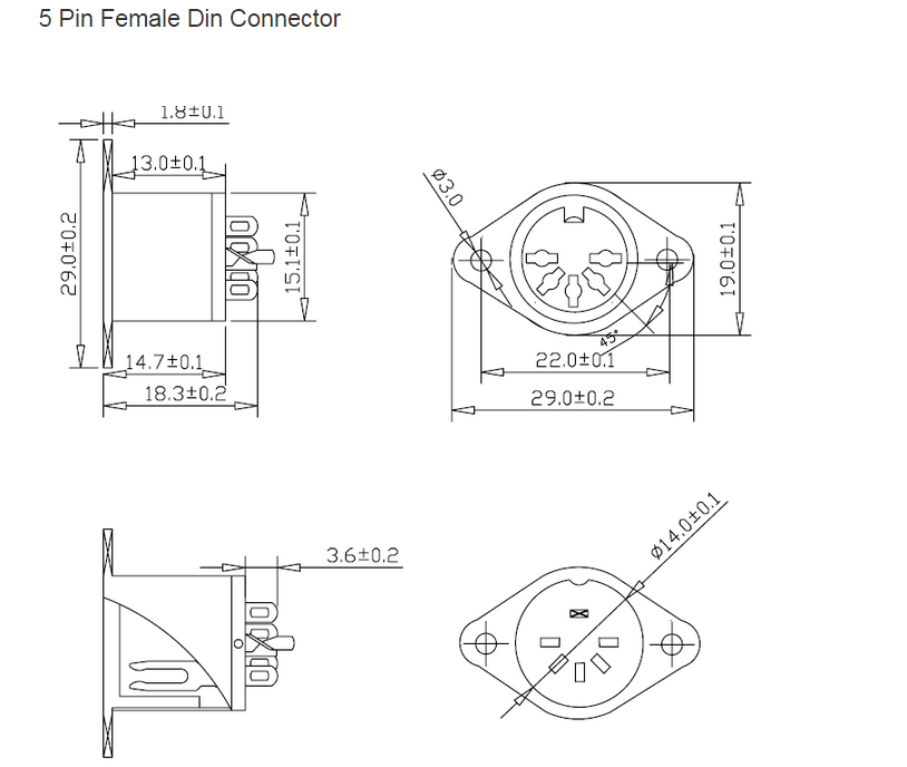 din type male and female 5pin 6 pin din connector din plug connector soldering and din female