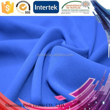 Polyester 75D pure georgette fabric, ladies georgette tops from china factory