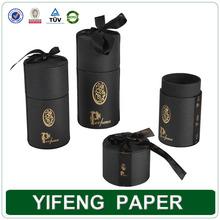 China wholesale manufacture custom fashion recycle black knit paper tube box