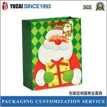 Popular green paper bag christmas paper bag