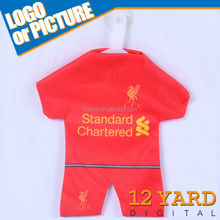 Custom Liverpool Mini Sublimation T Shirt Mini Cheap Football Kits Mini T Shirt Design FC-1004