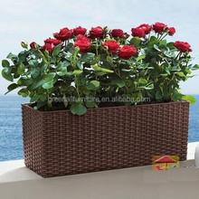 outdoor plastic flower pot
