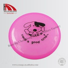 pet flying disc for dog with printing logo in pink 200*200 mm