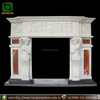 Indoor Used Fireplace Mantel in white marble