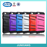 wholesale 2 in 1 cell phone case slim armor robot holster combo case for iphone 6 with kickstand