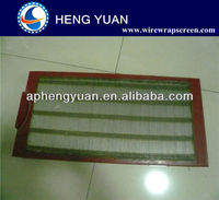 Stainless steel polyurethane frame wedge wire screen plate
