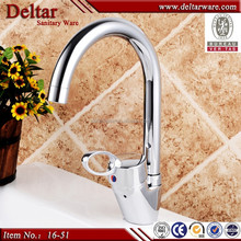DELTAR Factory Direct Long Neck Kitchen Faucet,Stainless Steel Pipe Hot & Cold Water Kitchen Sink Water Tap