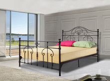 hot sale I shape black double bed made in China