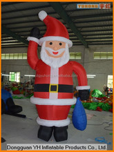 fire resistant outdoor Xmas advertising inflatable Santa Clause model