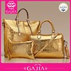 China supplier fashion handle woman bag 3 pcs in 1 set,best quality lady hand bags, noble and flaunty crocodile leather bag