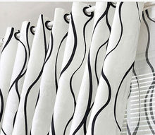 Fashion black and white patterned curtain wholesale and manufacture