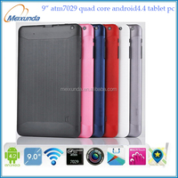 Latest 9 inch tablet pc Action ATM7029 quad core Android 4.4 512MB/8GB Capacitive Screen WIFI dual camera tablet