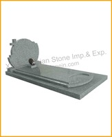 G603 grey granite large headstone cheap granite tombstone headstone monument