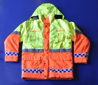 winter hi vis security jacket