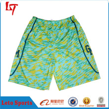custom yellow and green casual wear basketball short