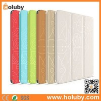 For iPad Air 2 Case Leather New Fashion,Case for iPad Air 2,HOCO Cube Series Tri-fold Flip Stand Leather Case for iPad Air 2