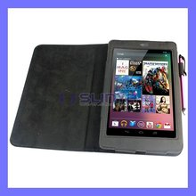 Black Stand Leather Case For Google Nexus 7 Tablet PC