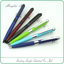 Nice promotional silver metal blue clear picture logo gift promotional metal ball pens