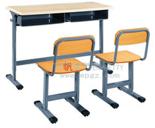 Excellent Quality Double School Desk and Chairs for Primary/Middle/High School Student of School Furniture