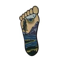 Funny unique custom metal foot lapel badge pins craft