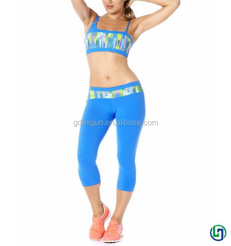 ขายส่งราคาถูกผู้หญิงเสื้อผ้าโยคะออกกำลังกายกีฬาเซ็กซี่ชุดชั้นในและชุดกางเกงขาสั้น2015