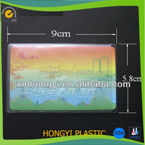 Clear Bank Clear Soft Pvc Bank Card