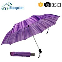 Hot Selling Famous Drawing Sunflower Polyester Fold Umbrella