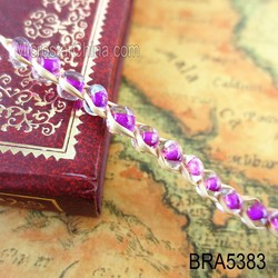 Hot sale love story lafite grasses mix color gemstone beads bracelet