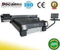 Docan large format digital direct uv flatbed curable printer/wood glass metal plate printer