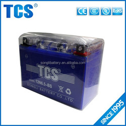 CE approval 12v 6.5ah lead acid sealed battery motorcycle