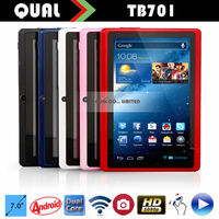 HOT!!! 7 in cheap tablet pc with Allwinner A23 / A13 Dual Core 0.3M/0.3MP 512M/4G wifi buletooth latest Android 4.4 TB701 C
