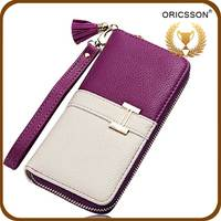 Women cute style Candy Color PU Leather Stand Cover Flip Lady wallet
