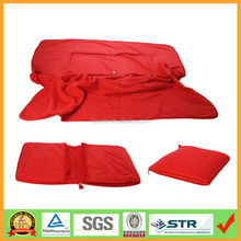 Hot Selling Muti-function Super Soft Polar Fleece 2 in 1 Cushion Pillow Blanket with Zipper